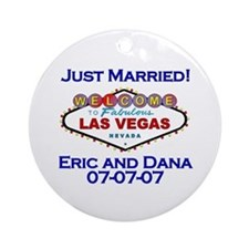 Las Vegas Just Married Ornament (Round)