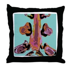 Colored Spine Throw Pillow