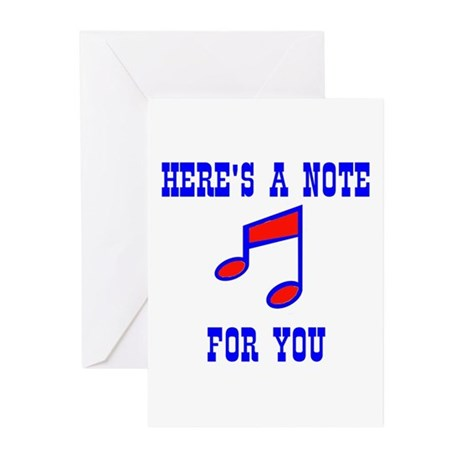 A NOTE FOR YOU Greeting Cards (Pk of 10)