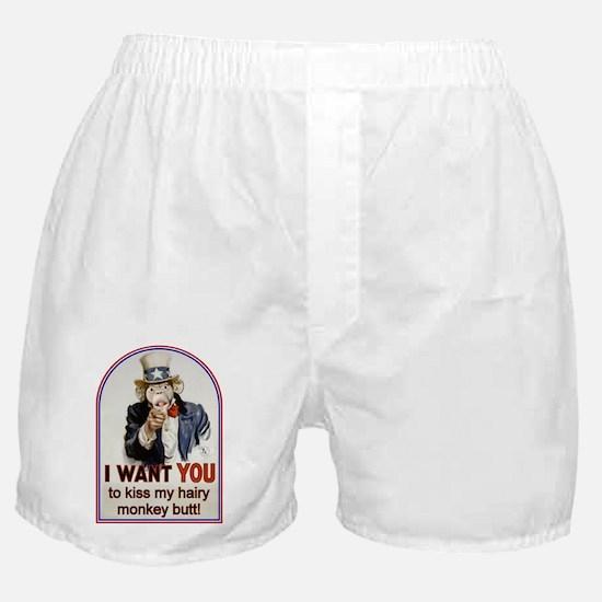 Monkey Butt Boxer Shorts