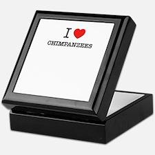 I Love CHIMPANZEES Keepsake Box