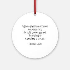 Fascism Ornament (Round)
