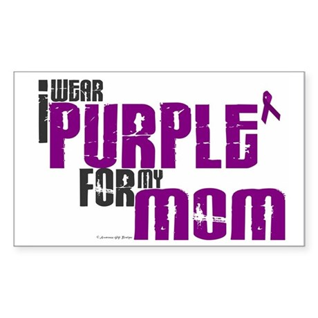 I Wear Purple For My Mom 6 (PC) Sticker (Rectangul