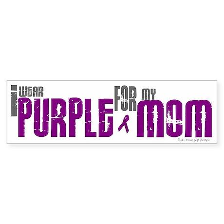 I Wear Purple For My Mom 6 (PC) Bumper Sticker