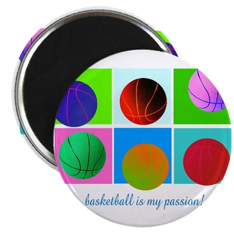 "Basketball is my passion! 2.25"" Magnet (10 pack)"