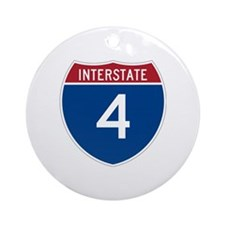 Interstate 4 Ornament (Round)