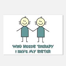 Sisters Fun Postcards (Package of 8)