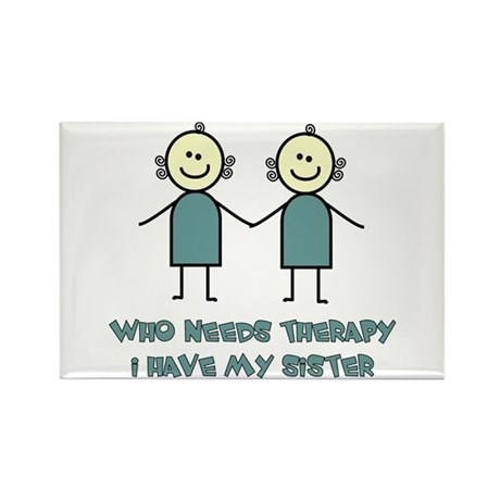 Sisters Fun Rectangle Magnet (10 pack)