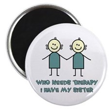 "Sisters Fun 2.25"" Magnet (100 pack)"