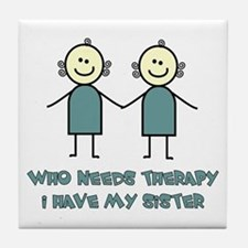 Sisters Fun Tile Coaster