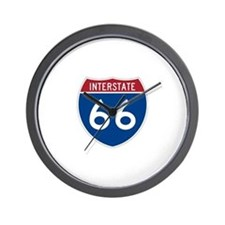 Interstate Route 66 Wall Clock