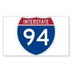Interstate 94 Rectangle Decal