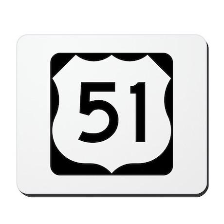 US Highway 51 Mousepad