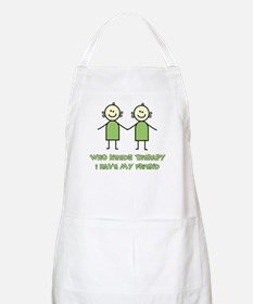 Therapy For Friends BBQ Apron