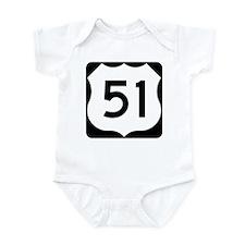 US Highway 51 Infant Bodysuit
