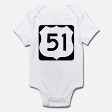US Highway 51 Infant Bodysuit