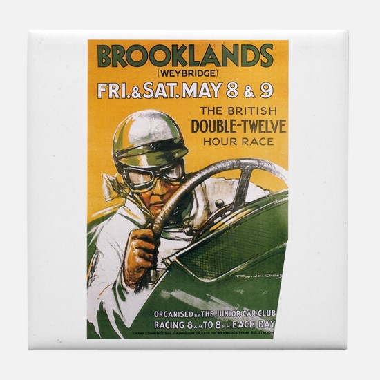 Brooklands Gran Prix Poster Tile Coaster