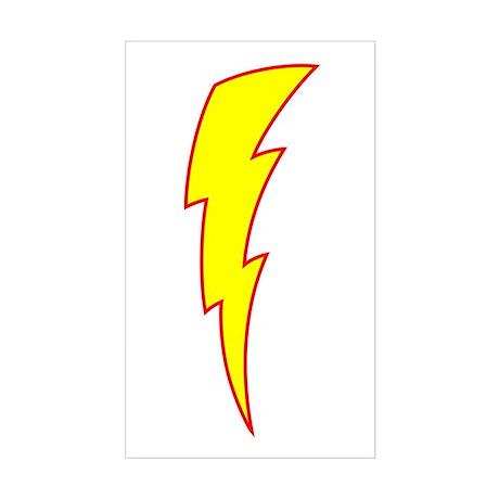 Lightning Bolt Rectangle Sticker