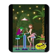 """""""After Hours At The Pink Flamingo."""" Mousepad"""