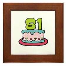 81st Birthday Cake Framed Tile