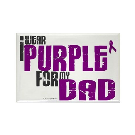 I Wear Purple For My Dad 6 (PC) Rectangle Magnet (