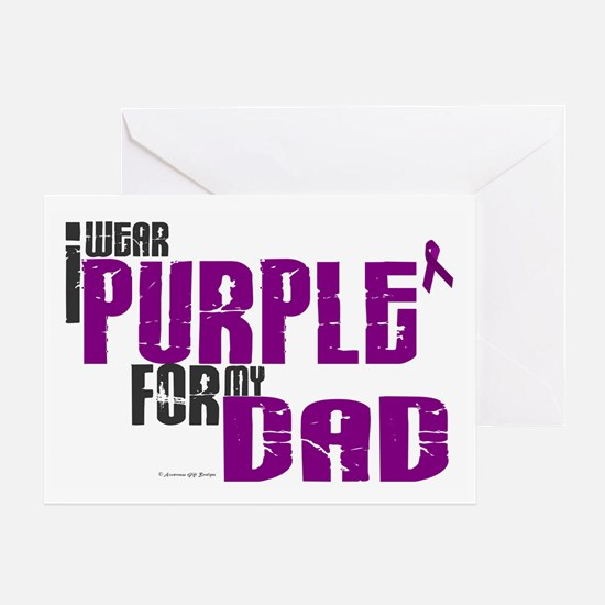I Wear Purple For My Dad 6 (PC) Greeting Card
