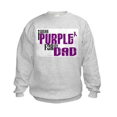 I Wear Purple For My Dad 6 (PC) Kids Sweatshirt