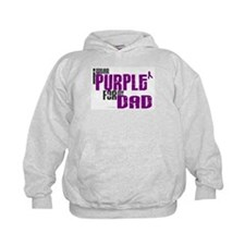I Wear Purple For My Dad 6 (PC) Hoodie
