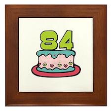 84th Birthday Cake Framed Tile