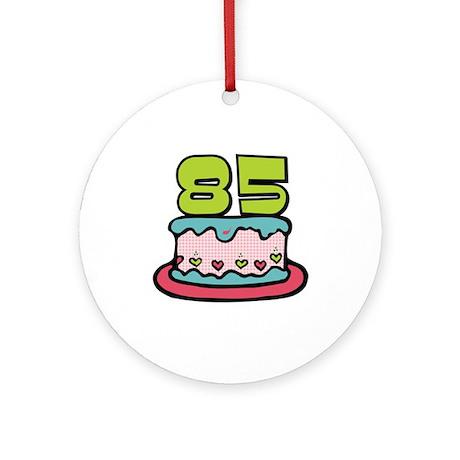 85th Birthday Cake Ornament (Round)