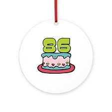 86th Birthday Cake Ornament (Round)