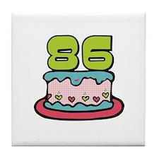 86th Birthday Cake Tile Coaster