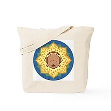 DJ Buddhaful Fire Lotus Circle Tote Bag