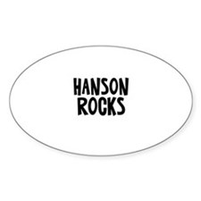 Hanson Rocks Oval Decal