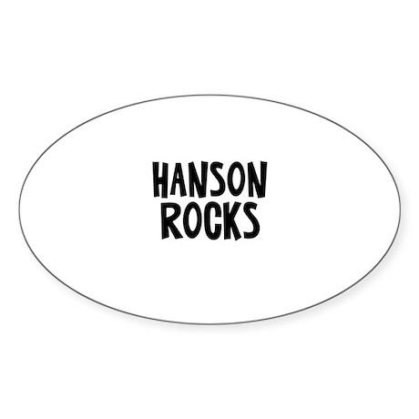 Hanson Rocks Oval Sticker