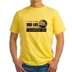 Lost 100+ lbs. Divorced Her Yellow T-Shirt