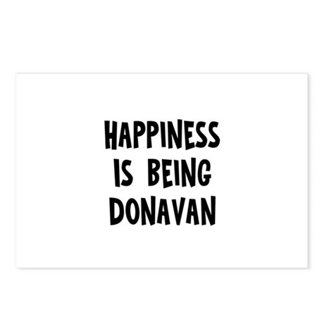 Happiness is being Donavan Postcards (Package of 8