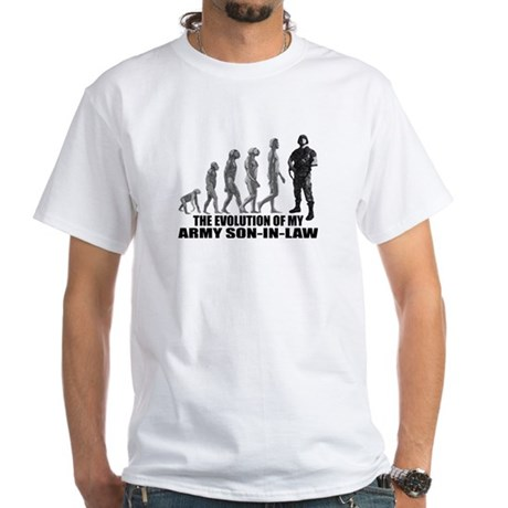 Evolution of my Army Son-n-Law White T-Shirt