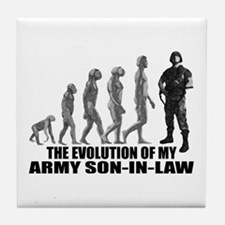 Evolution of my Army Son-n-Law Tile Coaster