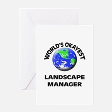 World's Okayest Landscape Manager Greeting Cards