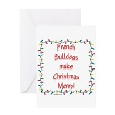 Merry French Bulldog Greeting Card