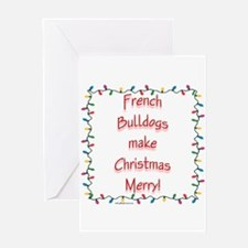 Merry French Bulldog Greeting Card