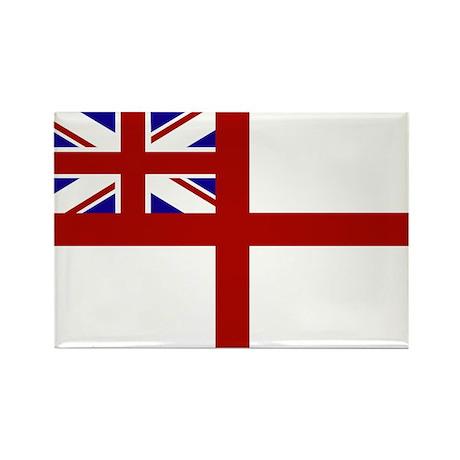 royal navy flag oblong Magnets
