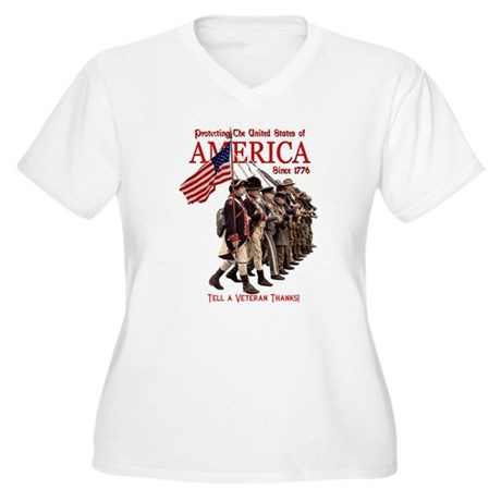 Defending America Women's Plus Size V-Neck T-Shirt