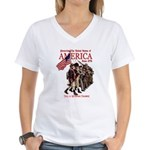 Defending America Women's V-Neck T-Shirt