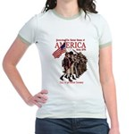 Defending America Jr. Ringer T-Shirt