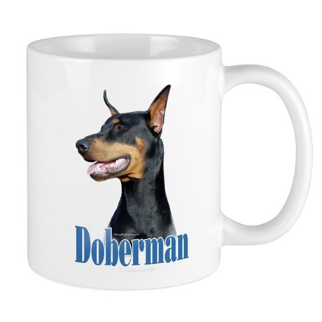 Doberman(black)Name Mug
