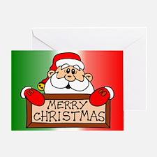 Merry Christmas Santa Clause Greeting Card