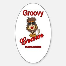 GROOVY GRAM Oval Decal