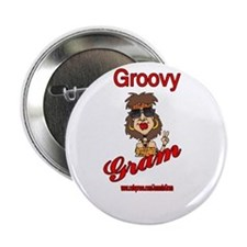 """GROOVY GRAM 2.25"""" Button"""